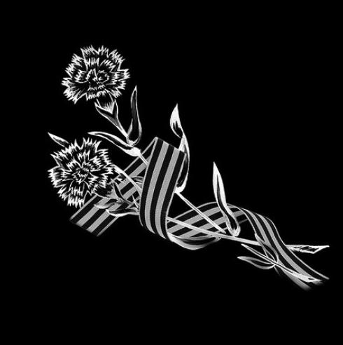Цветок 13 - Гравировка цветка на памятнике, производство и доставка по РФ