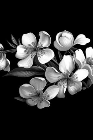 Цветок 23 - Гравировка цветка на памятнике, производство и доставка по РФ