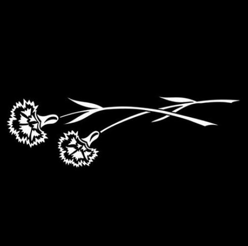 Цветок 8 - Гравировка цветка на памятнике, производство и доставка по РФ