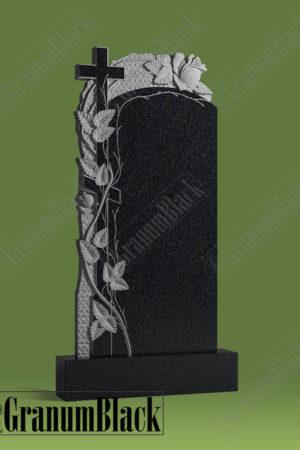 Памятник р-2 с розами и крестом