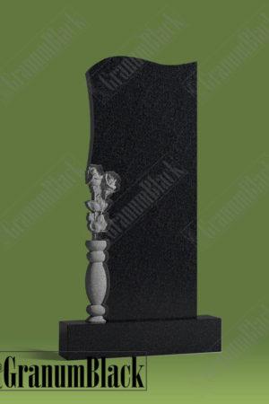Памятник с вазой и розами