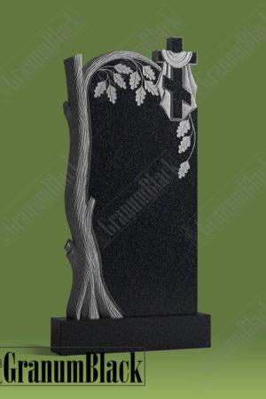 Памятник д-1 с дубом и крестом