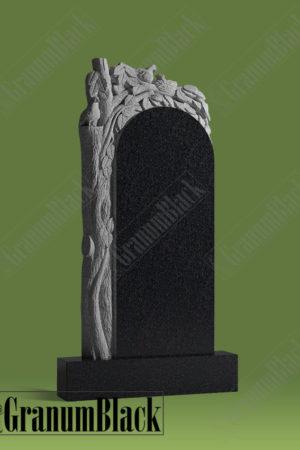 Памятник с деревом и голубями