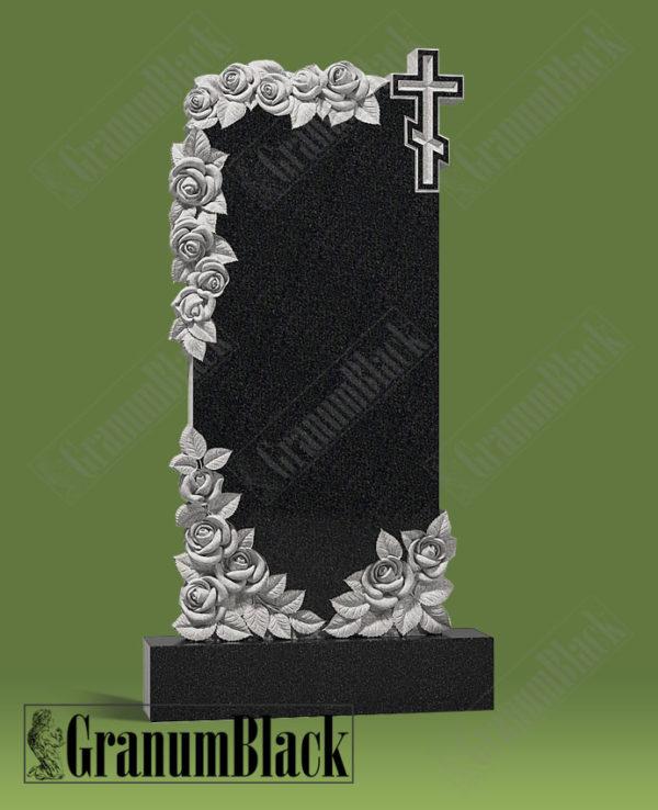 Памятник р-3 с розами и крестом